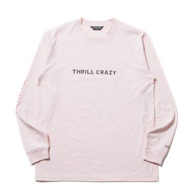 Print L/S Tee (THRILL CRAZY)-Pink-