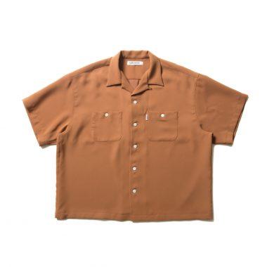 Double Cloth S/S Open Neck Shirt