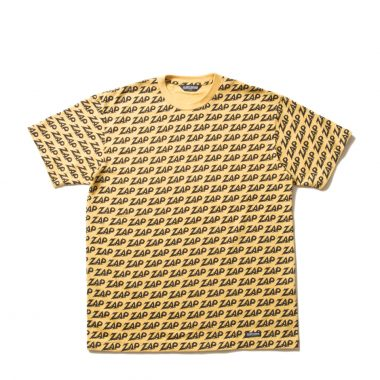 Zap All Over S/S Tee-Yellow-