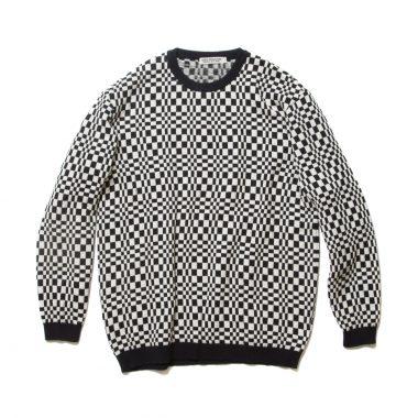 Crazy Checkered Crewneck Sweater