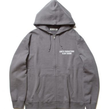 Print Sweat Zip Parka (COOTIE LOGO)-Gray