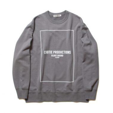 Print Crewneck Sweatshirt (COOTIE LOGO)-Gray