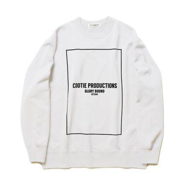Print Crewneck Sweatshirt (COOTIE LOGO)-White