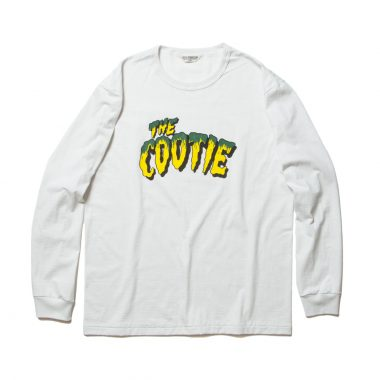 Print L/S Tee (THE COOTIE)-White_Smoke_Green