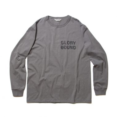 Print L/S Tee (LIFE OF THE OUTCASTS)-Gray