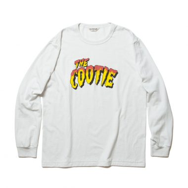 Print L/S Tee (THE COOTIE)-White_Smoke_Red