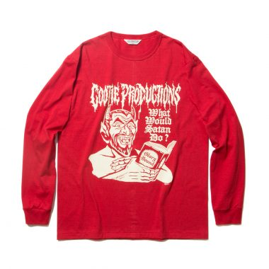 Print L/S Tee (WHAT'S WOULD SATAN DO?)-Red