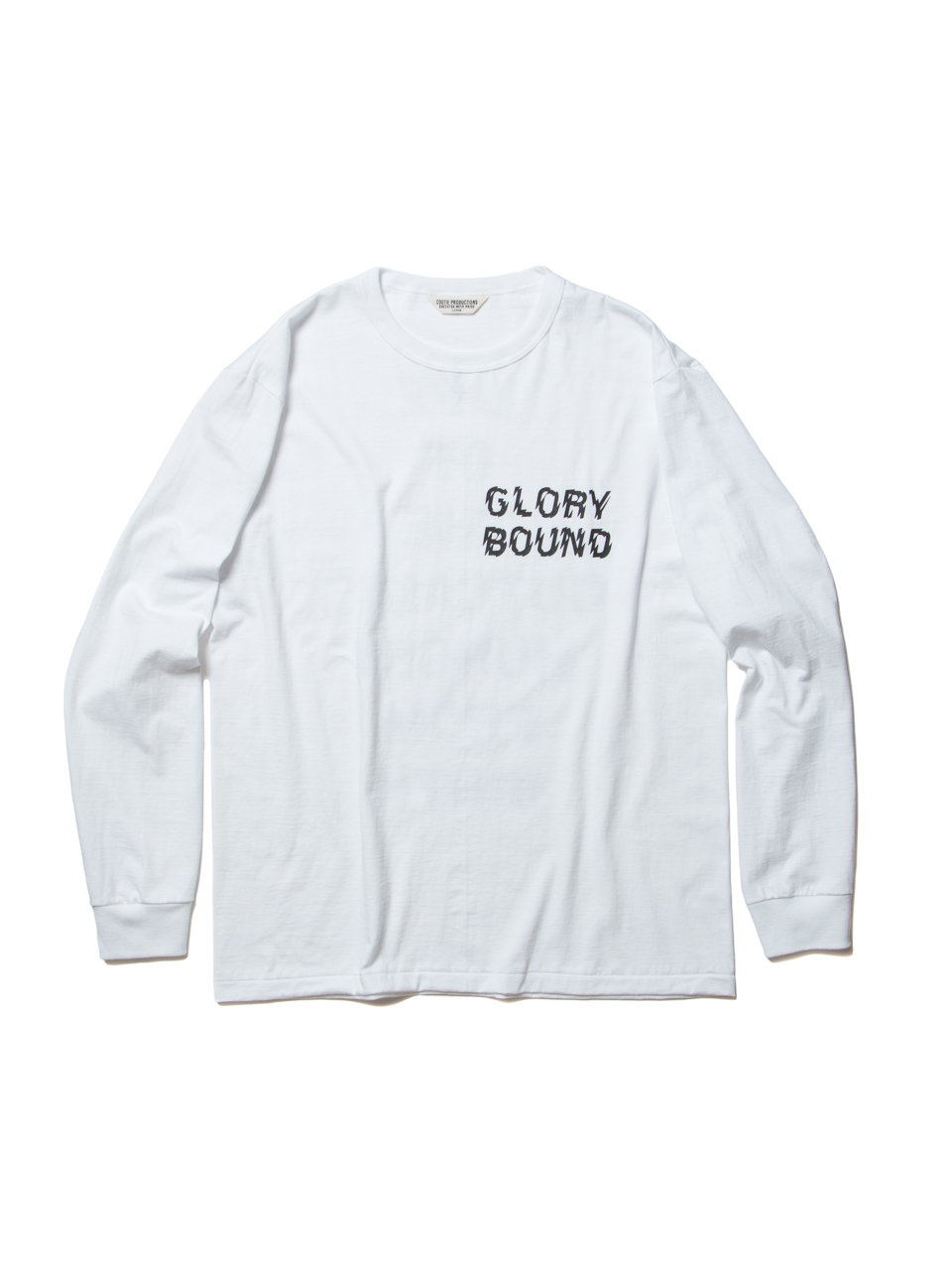 Print L/S Tee (LIFE OF THE OUTCASTS)-White