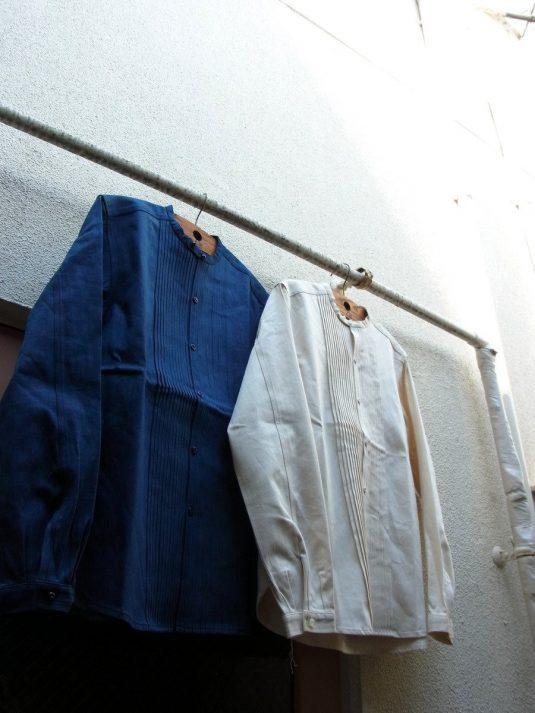 Pleated Denim Shirt.