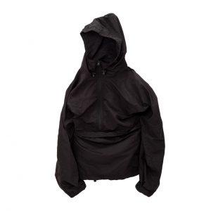 Packable Anorak Jacket-Black-