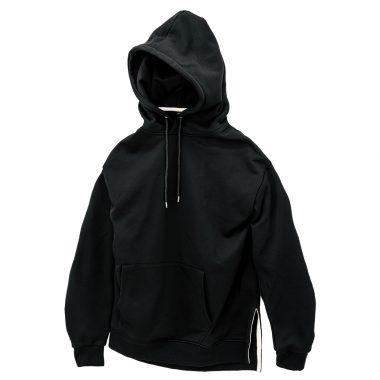 Slit Pullover Parka-Black-