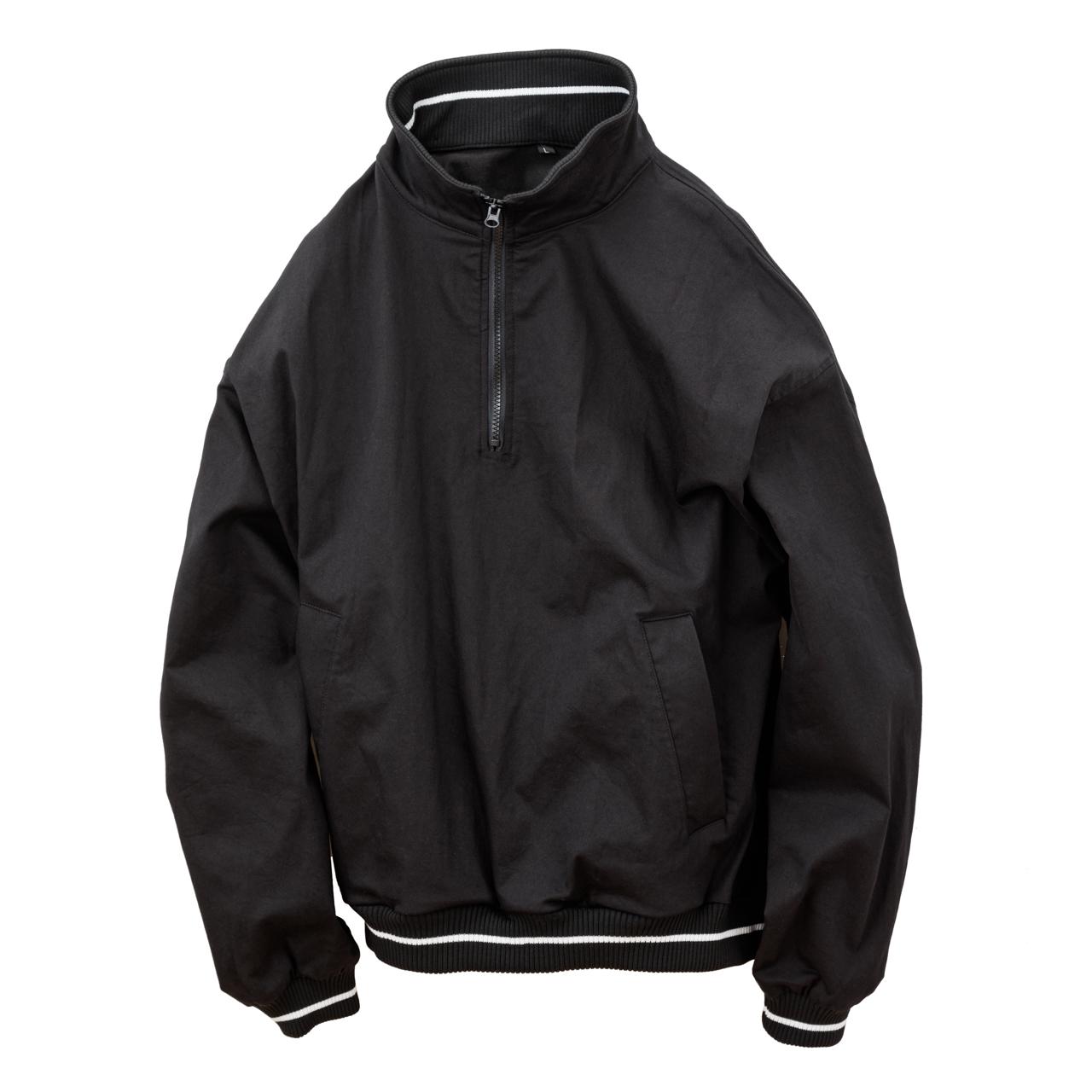 Half Zip Athletic Jacket-Black-